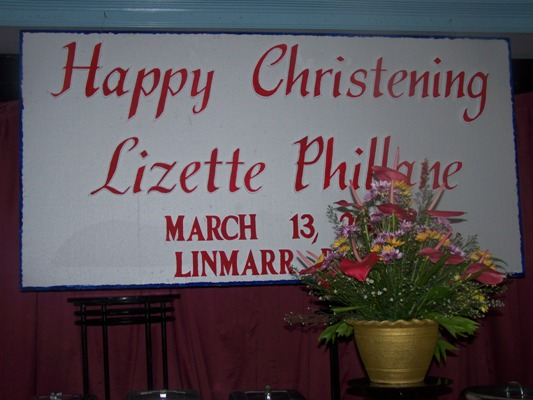 Celebration on the Christening of Lizette Phillane Idulsa on Mar. 13, 2010 event picture at Linmarr Davao Hotels and Apartelles. It's more FUN in the PHILIPPINES