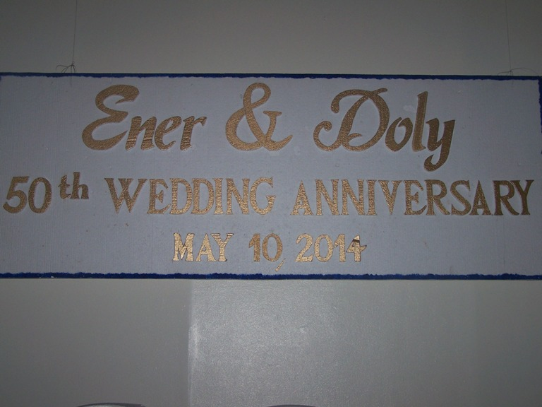 The Golden Anniversary of Dolly and Emer May 8, 2014  event picture at Linmarr Davao Hotels and Apartelles. It's more FUN in the PHILIPPINES