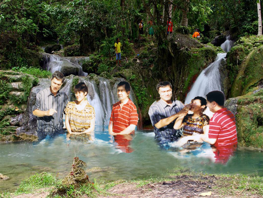 Linmarr Davao: Baptism as administered by immersion